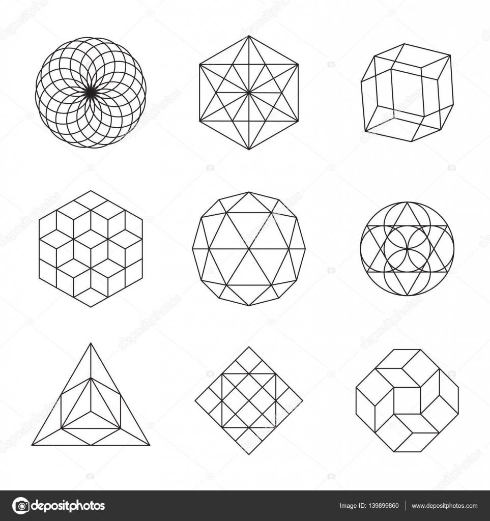 geometrische formen set stockvektor giraphics 139899860. Black Bedroom Furniture Sets. Home Design Ideas