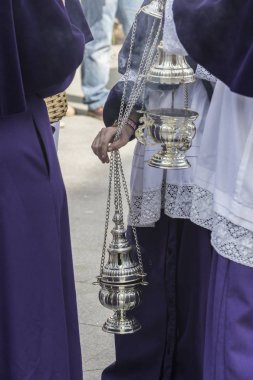 Censer of silver or alpaca to burn incense in the holy week, Spain