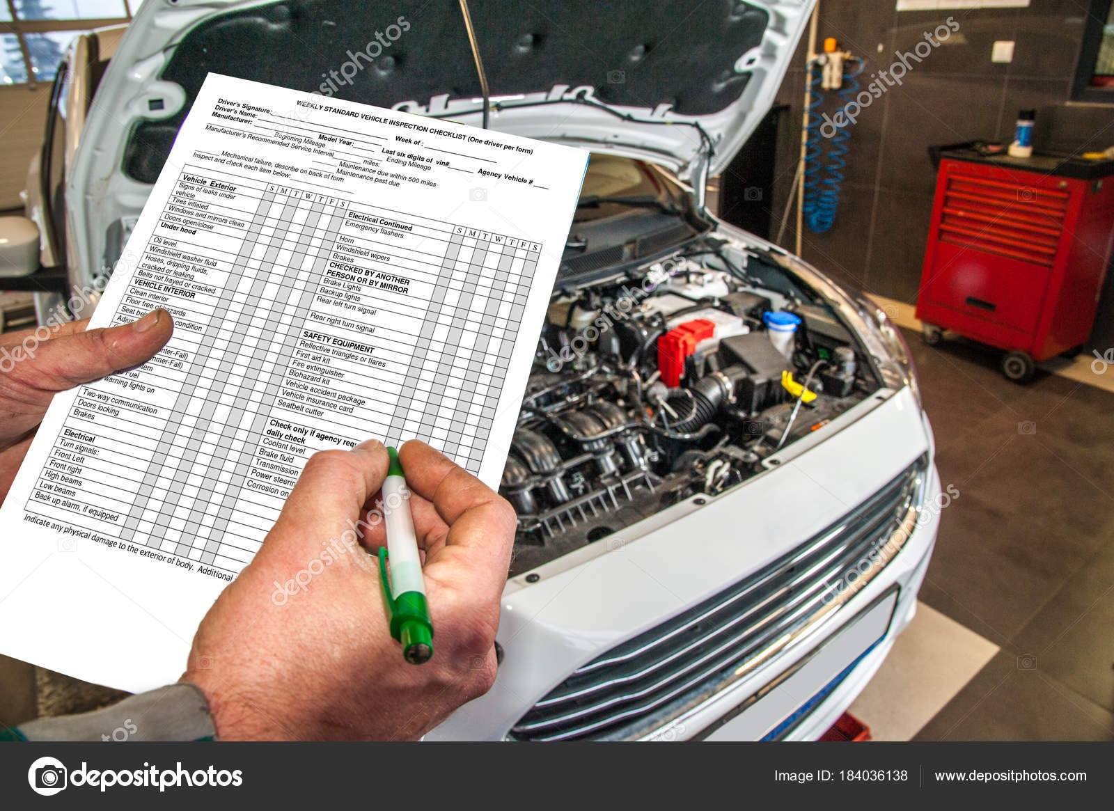 Checklist Checklist Checking Technical Condition Car Car Service ...