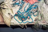 Ansicht von Fischernetz, maritimen oder nautischen Hintergrund