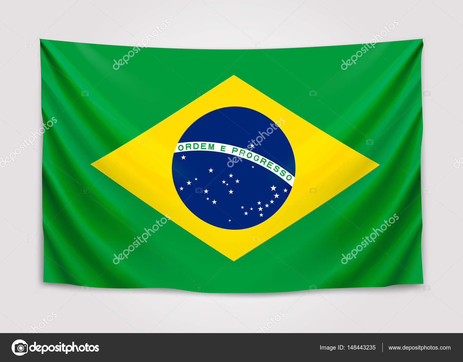 Hanging Flag Of Brazil Federative Republic Of Brazil Brazilian - Federative republic of brazil map