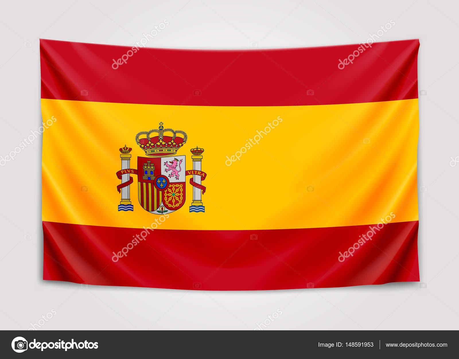 Accrocher le drapeau de l espagne royaume d espagne concept de drapeau national image - Drapeau d espagne a colorier ...
