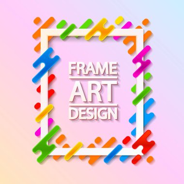 Color frame art design. Beautiful frame.