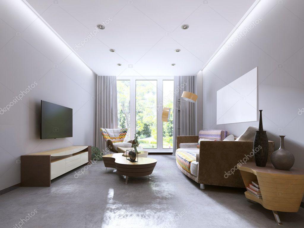 Moderne woonkamer in kitsch stijl u stockfoto kuprin