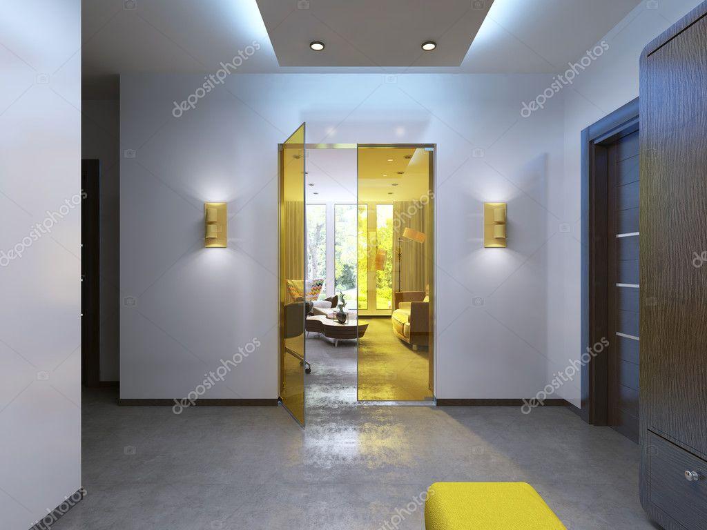 Moderne Lobby Flur im zeitgenössischen Stil — Stockfoto © kuprin33 ...