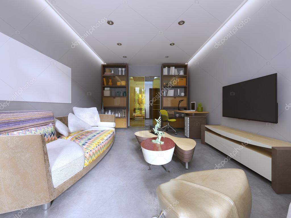 Moderne woonkamer in kitsch stijl u2014 stockfoto © kuprin33 #128156916