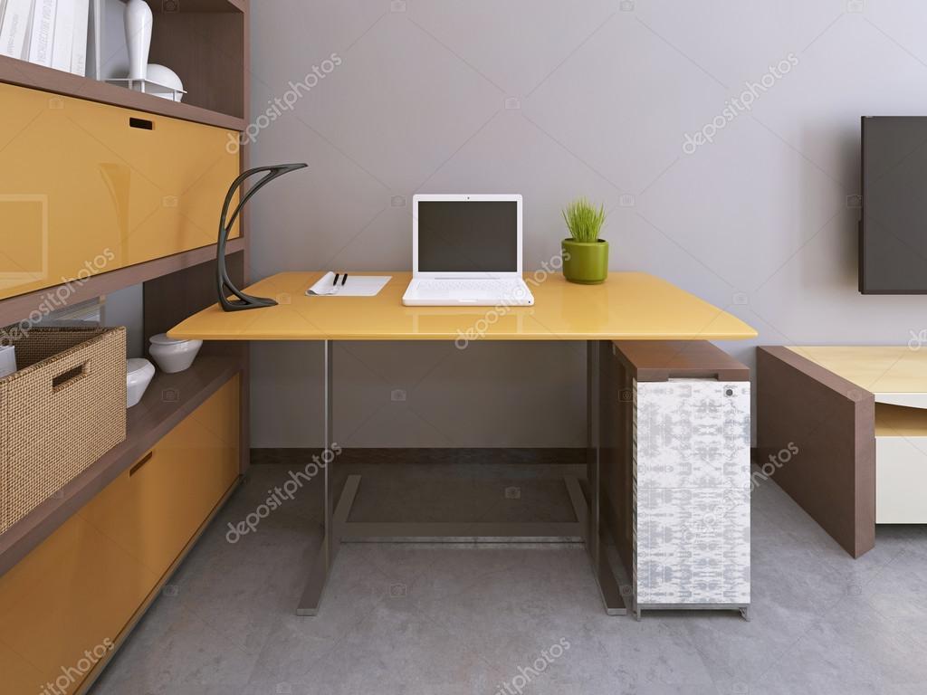 Schreibtisch Und Stuhl In Moderne Wohnzimmer U2014 Stockfoto