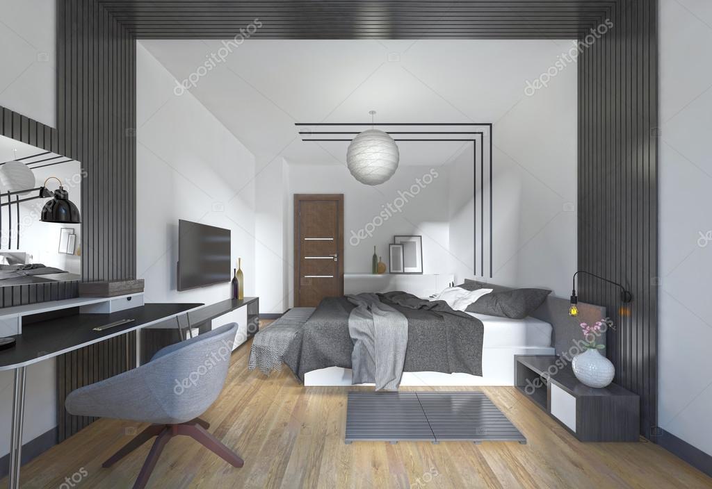 Lujosas y modernas habitaciones en estilo moderno en negro - Fotos de habitaciones de lujo ...