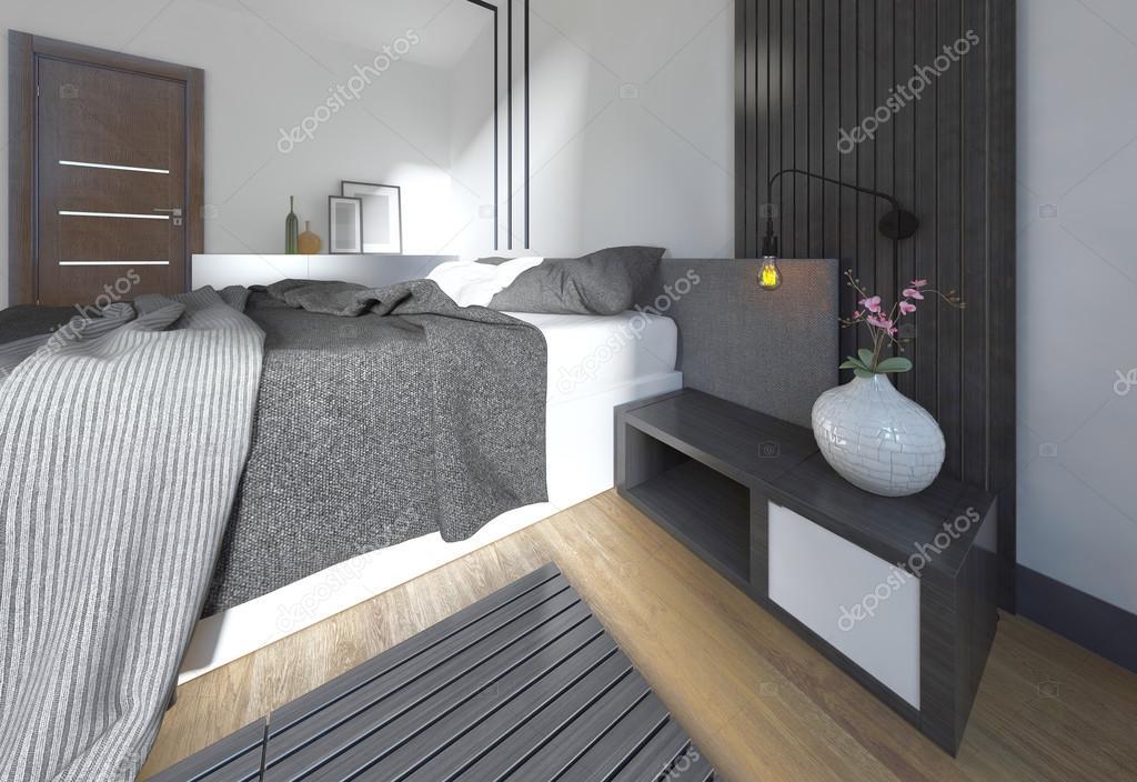Comò Camera Da Letto Moderna : Comodino design con arredamento in una camera da letto moderna