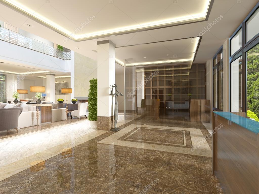 Moderne design lobby met receptie u2014 stockfoto © kuprin33 #128159804