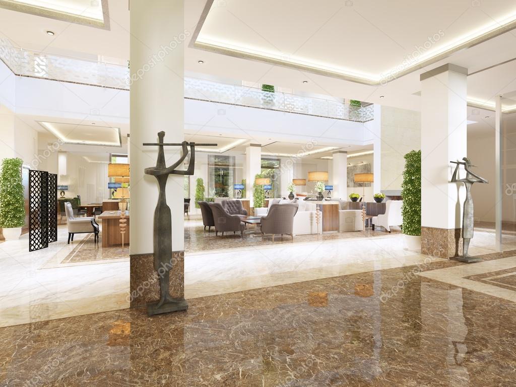 Moderne design lobby met receptie u2014 stockfoto © kuprin33 #128159872