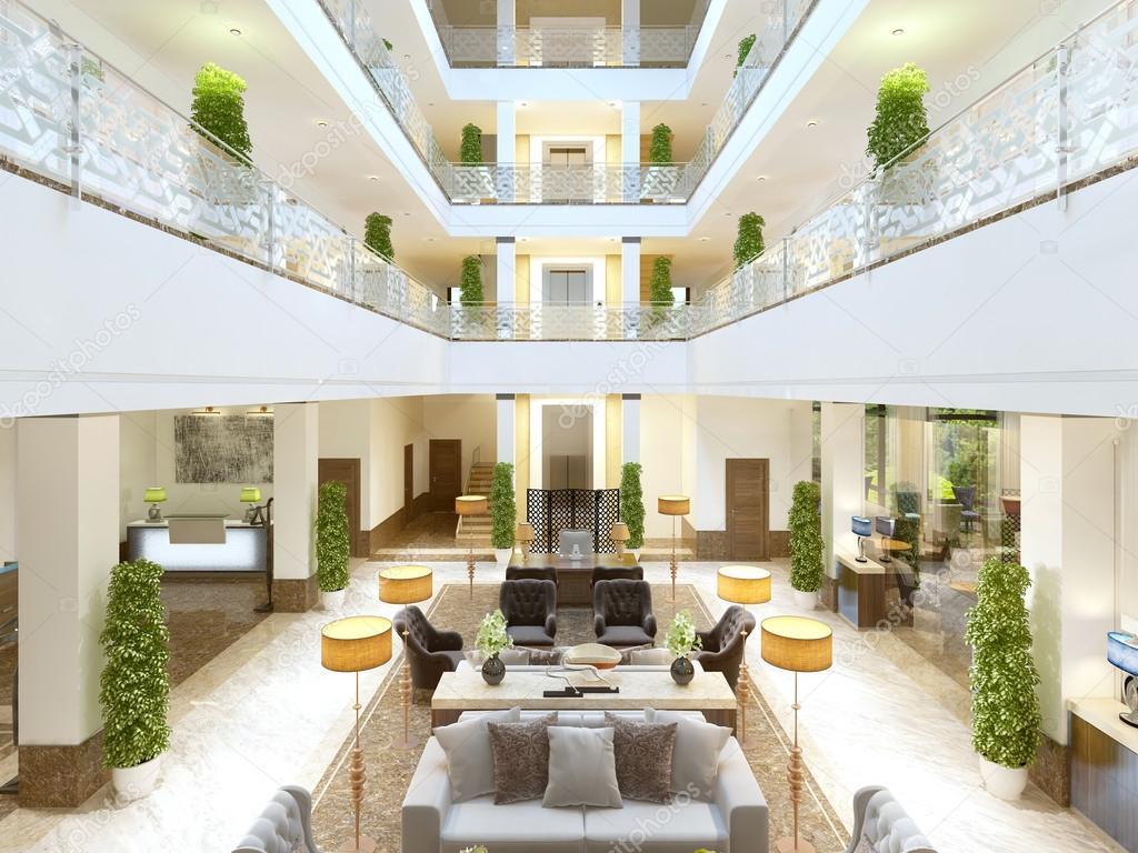 Luxe Interieur Ontwerp : Luxe interieur design lounge van het hotel u stockfoto kuprin