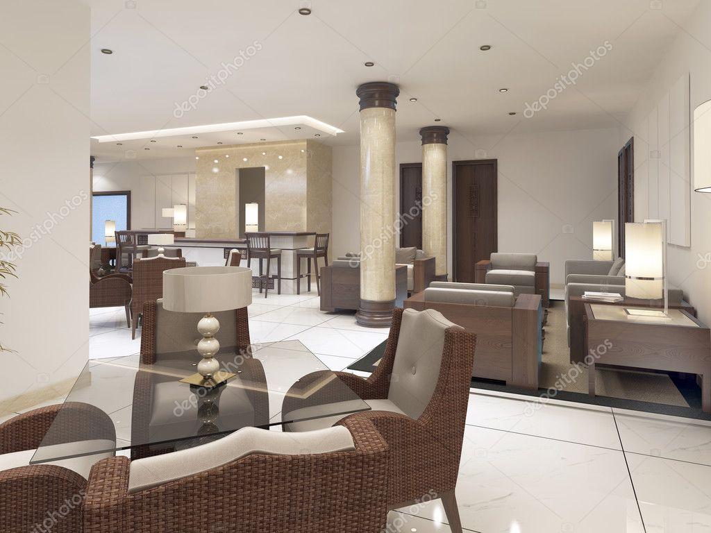 Ansprechend Rattanmöbel Wohnzimmer Das Beste Von Modernes Design Frühstücksraum Mit Rattan-möbeln — Stockfoto