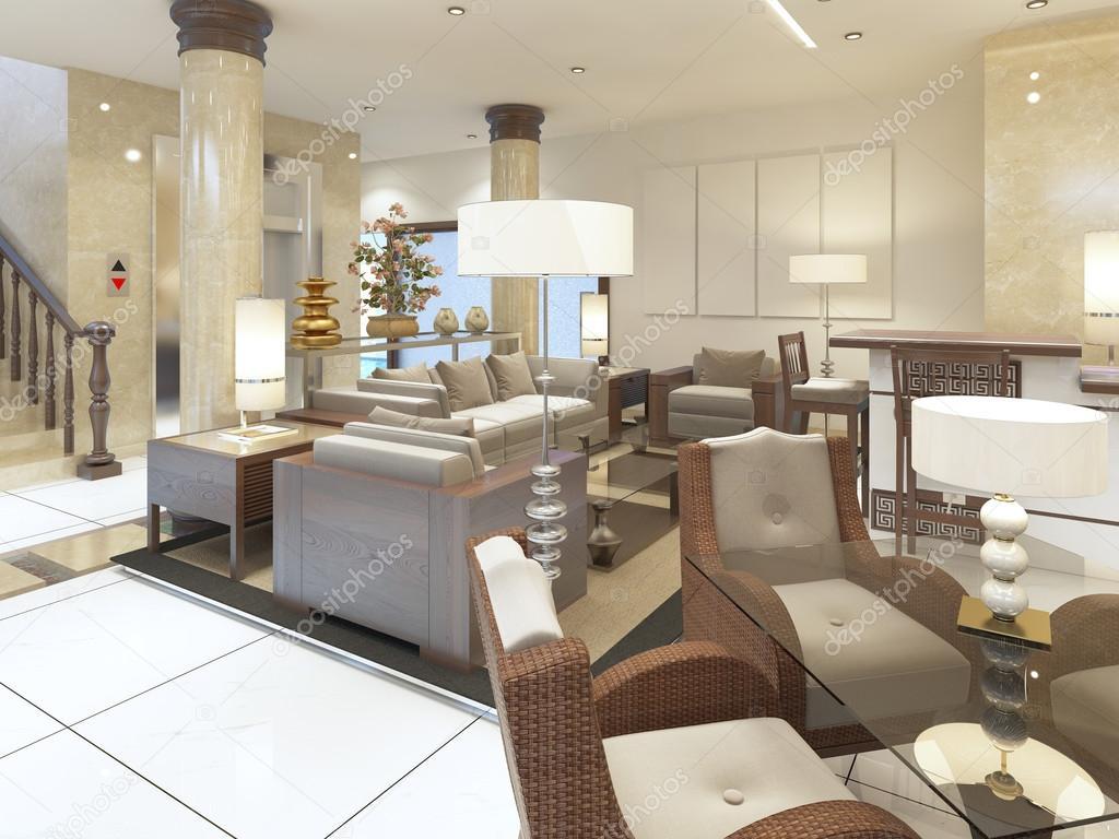 Der Lounge-Bereich in den Räumlichkeiten des Wellnesshotels ...