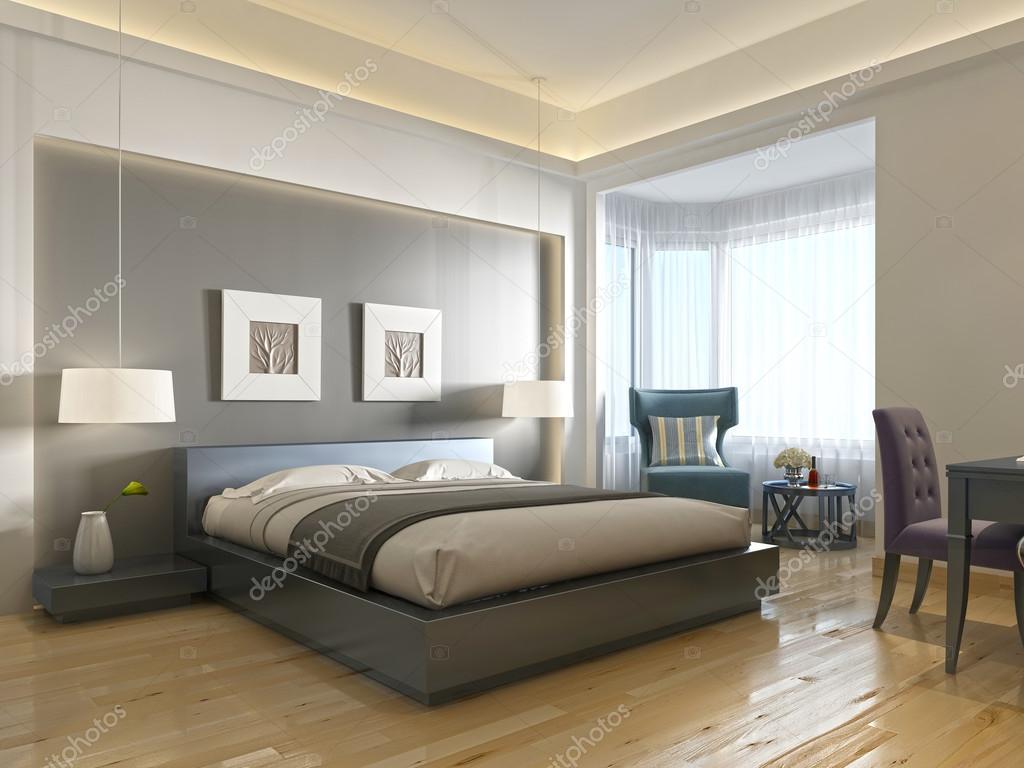 Modernes Hotel Zimmer zeitgenössischen Stil mit Elementen des Art ...