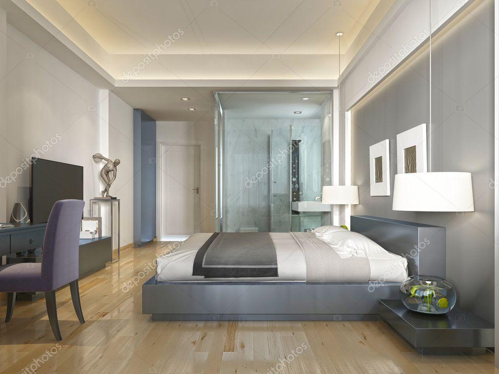 Moderne hotel kamer hedendaagse stijl met elementen van art deco