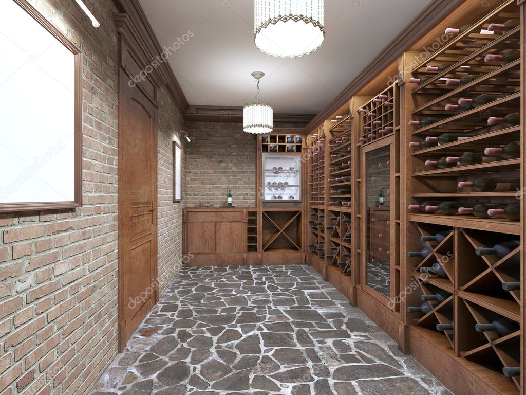 Wine cellar in the basement of the house in a rustic style. u2014 Stock Photo & Wine cellar in the basement of the house in a rustic style. u2014 Stock ...