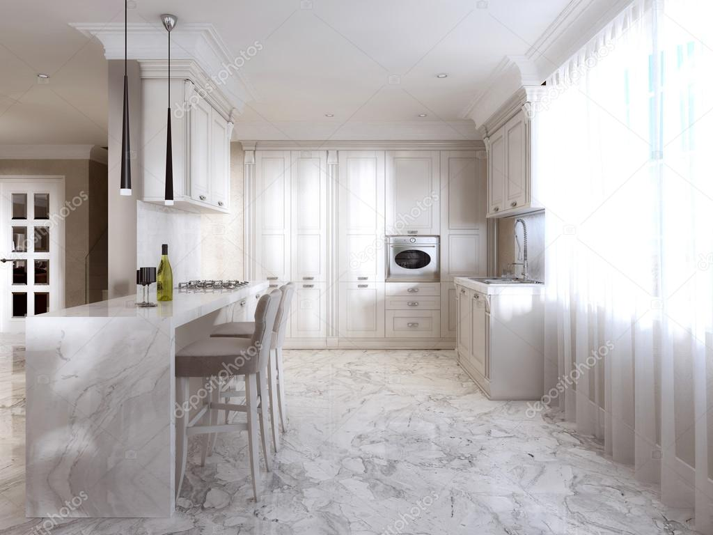 Cuisine de luxe avec opaline meubles dans le style art for Art deco cuisine