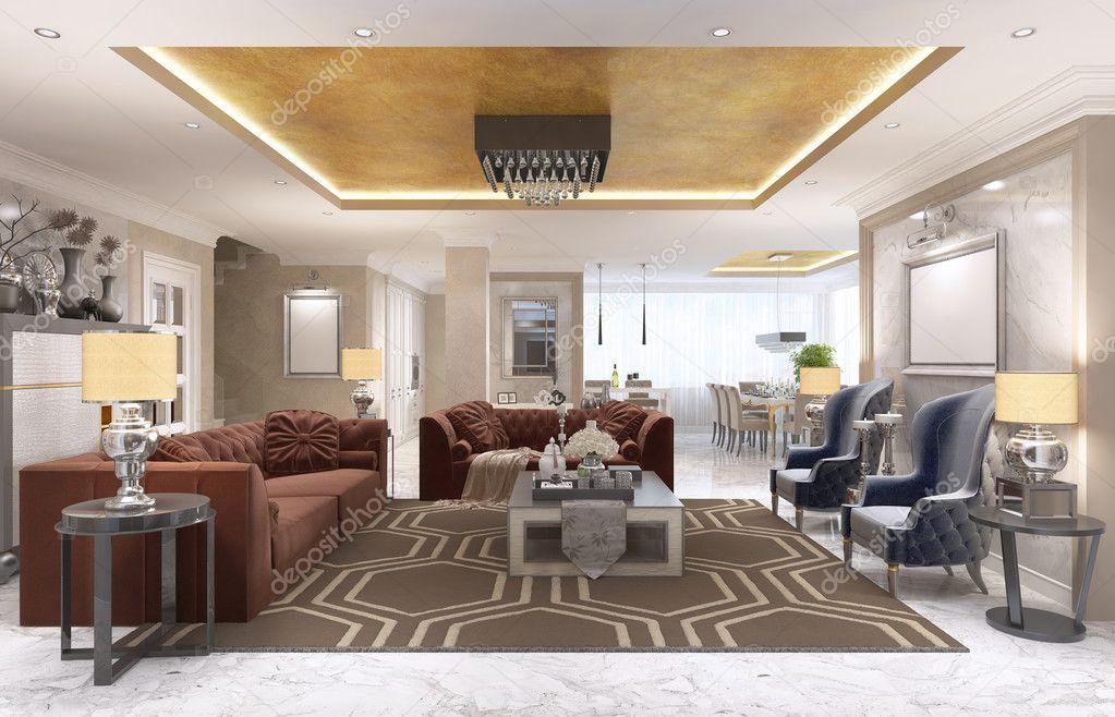 Lujo apartamento-estudio de diseño en estilo art Deco — Foto de ...