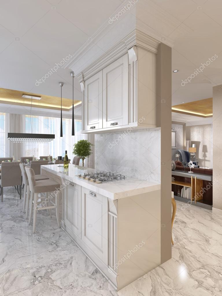 Excellent Luxury Kitchen With Opaline Furniture In Art Deco Style Squirreltailoven Fun Painted Chair Ideas Images Squirreltailovenorg