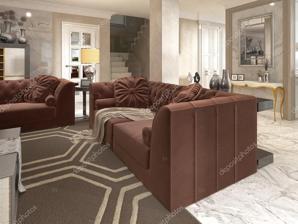 Luxus designer apartment studio im art deco stil u2014 stockfoto
