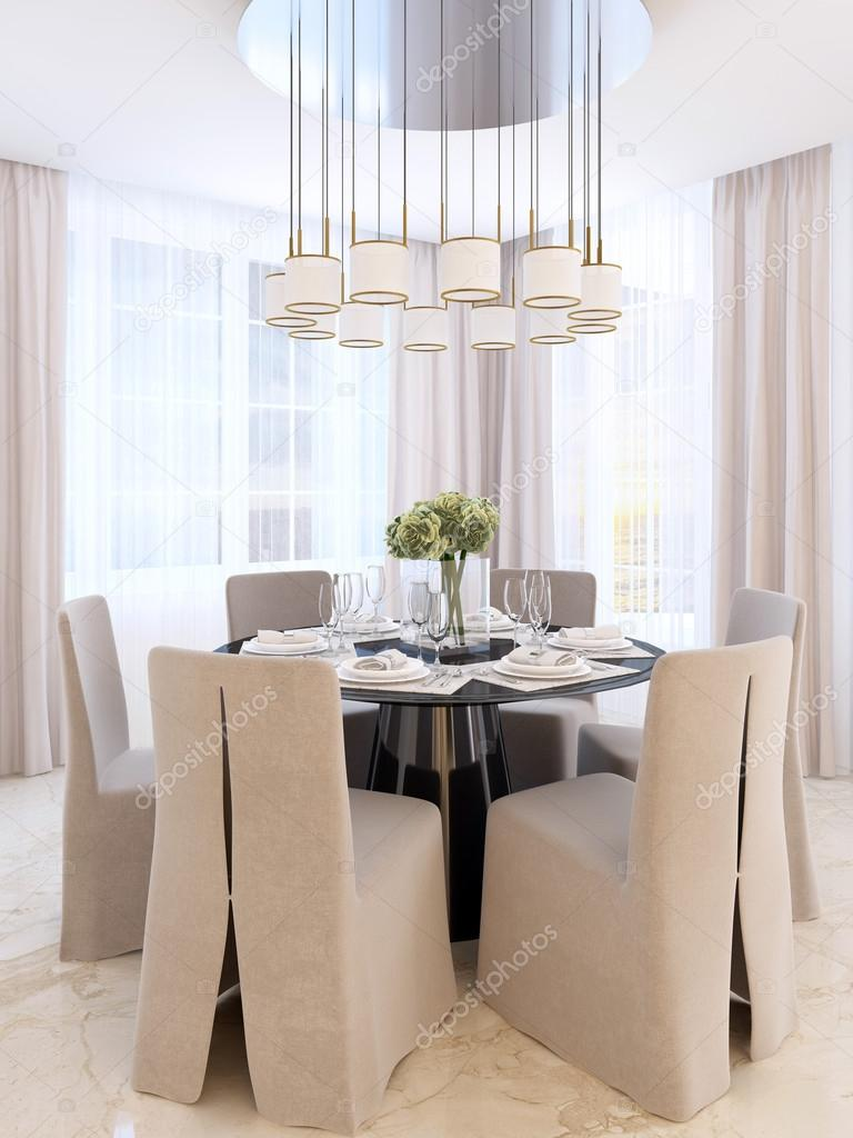 Modern Dining Table With Six Chairs Stock Photo C Kuprin33 128162198