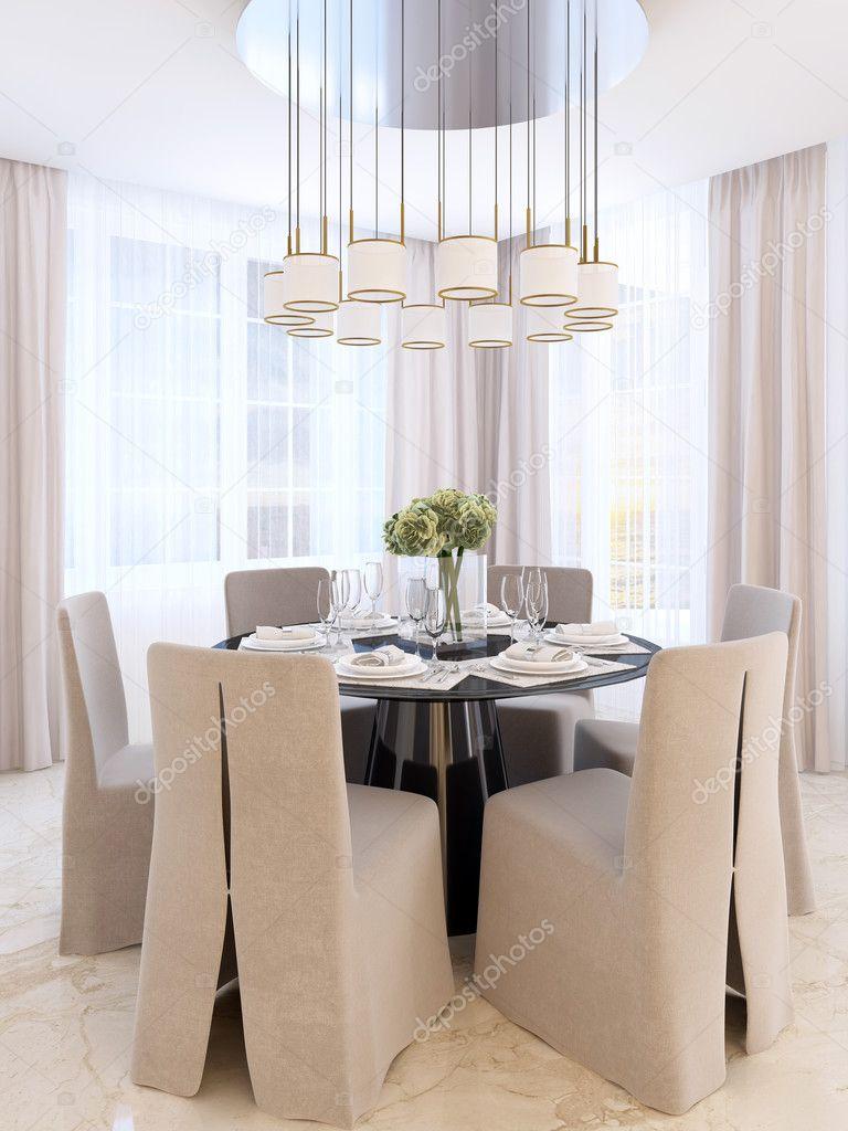 https://st3.depositphotos.com/2851435/12816/i/950/depositphotos_128162198-stockafbeelding-moderne-eettafel-met-zes-stoelen.jpg