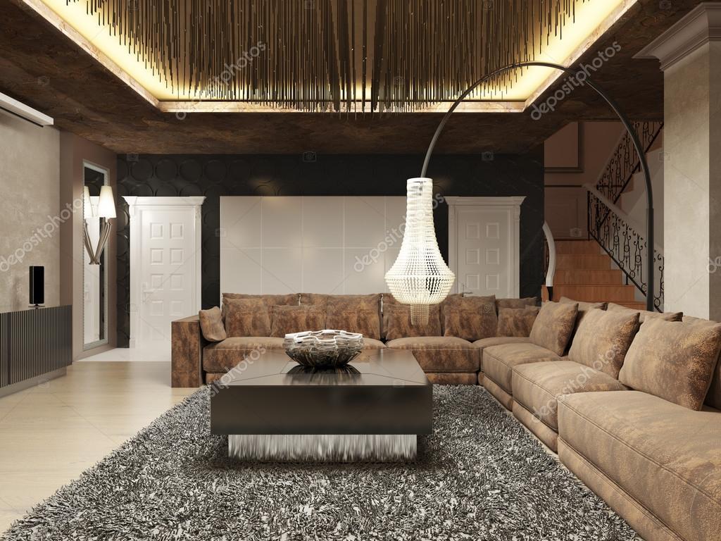 Sala de estar moderna luxo feita em estilo art deco for Moderne living