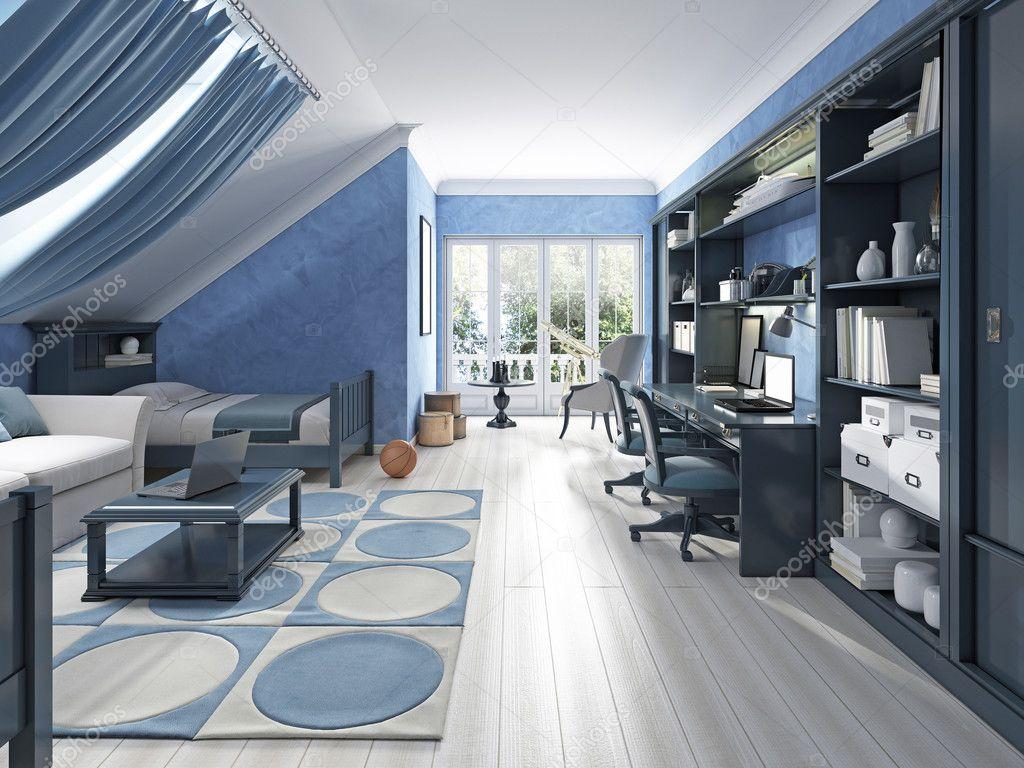 Luxus Kinderzimmer Für Zwei Jungs Im Teenageralter U2014 Stockfoto #128163222
