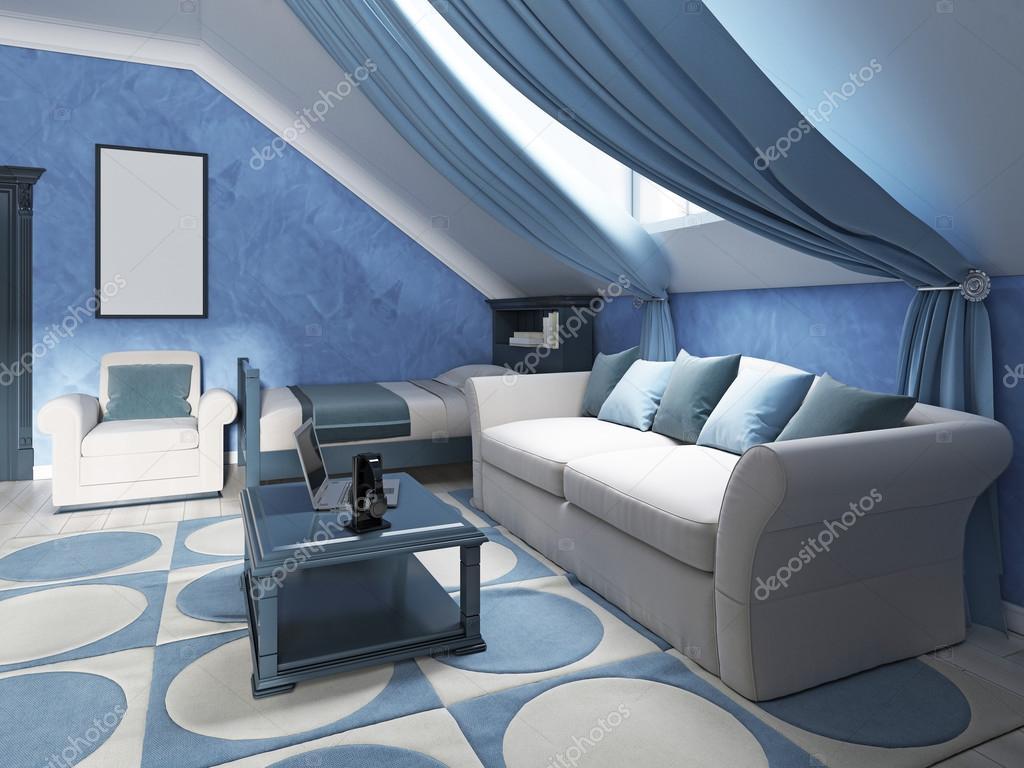 Beibehang blauwe hemel witte wolken kinderen prinses meisje kamer