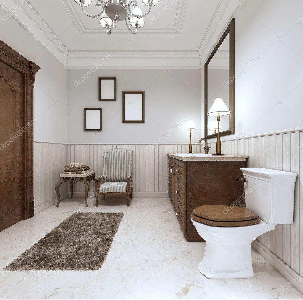 Salle De Bain En Style Moderne Avec Salle De Bain Lavabo Et Toilette