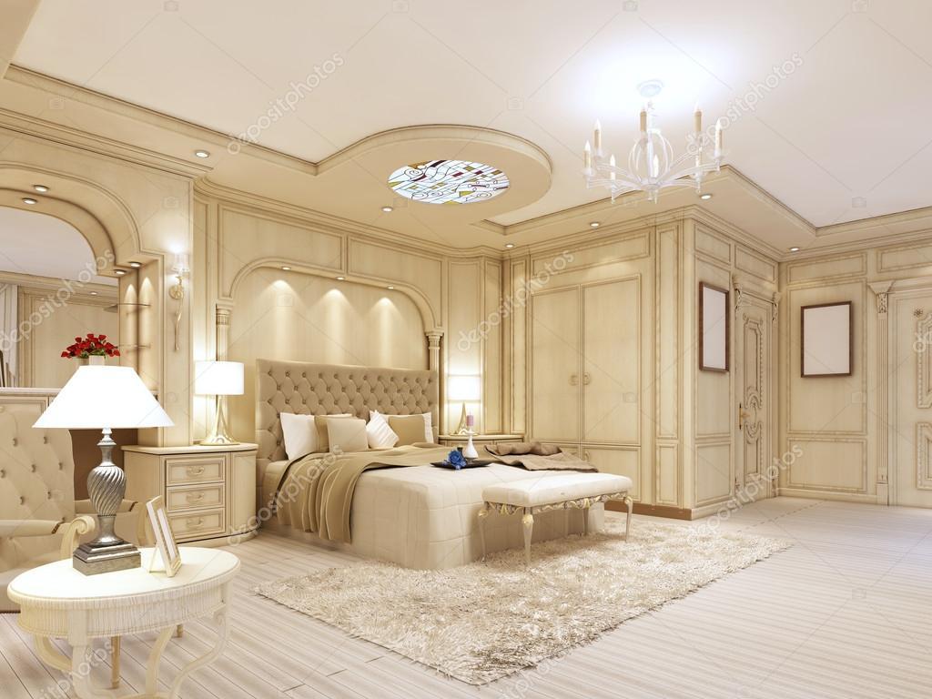 Camera da letto lussuosa in colori pastello in stile neoclassico foto stock kuprin33 128166310 - Camera da letto foto ...