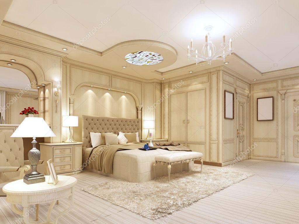 Slaapkamer Met Pastelkleuren : Luxe slaapkamer in pastelkleuren in een neoclassicistische stijl