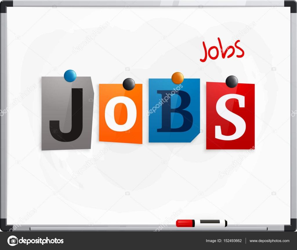 Los puestos de trabajo de word hecho con letras de periódico ...