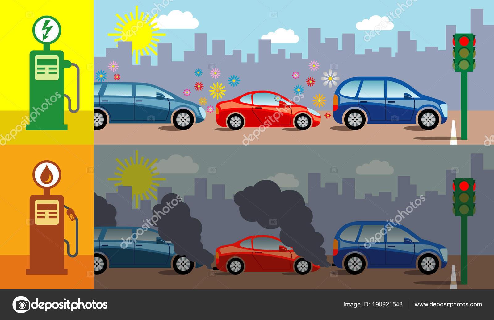 Voordelen Van Elektrische Auto Poster Stockvector C Rob3000 190921548