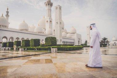 Arabic man at Sheikh Zayed mosque