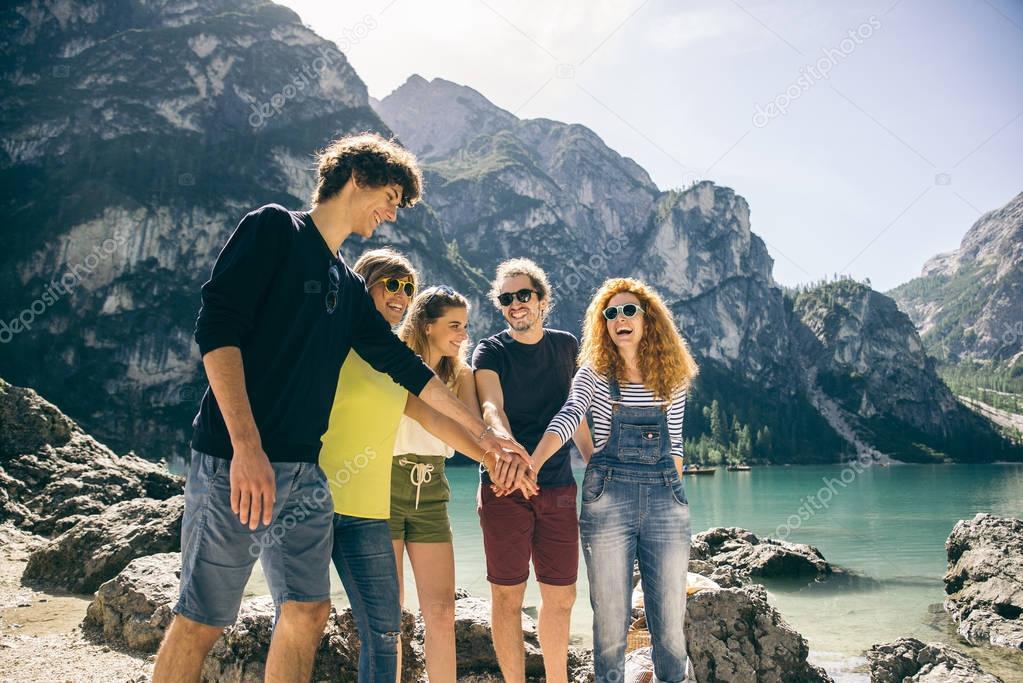 Friends on excursion