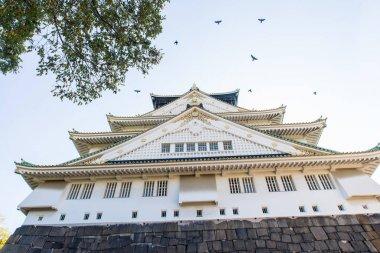 Osaka castle imperial palace in Osaka, Japan