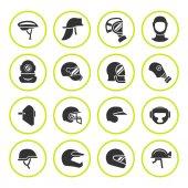 Fotografie Set Runde Ikonen der Helme und Masken