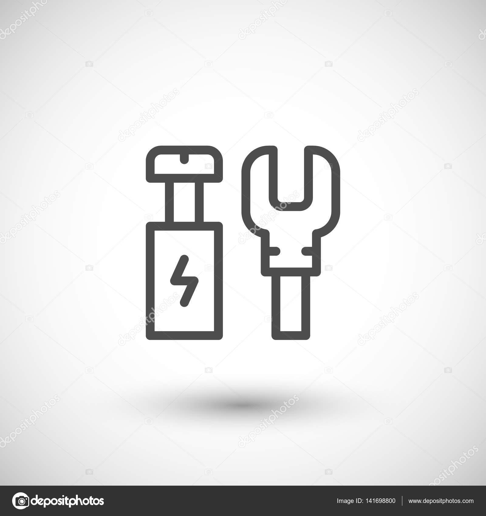 Elektrische Anschlüsse Liniensymbol — Stockvektor © motorama #141698800
