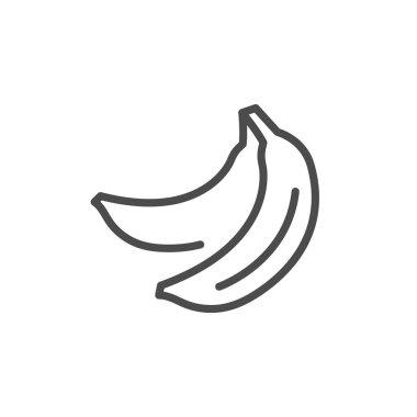 Banana line outline icon fruit concept