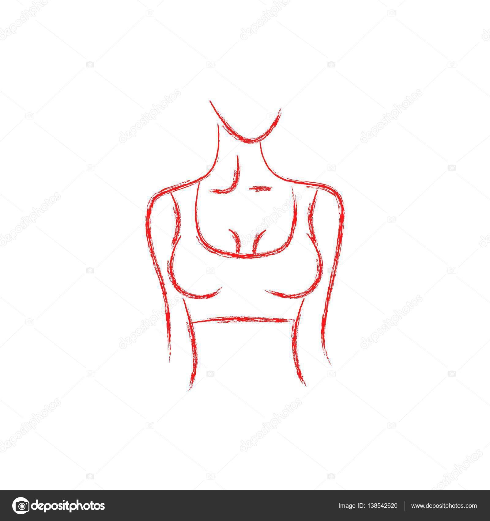 Vektor Bild Aus Einem Womans Körper Schöne Form Biegen Sie Rechts