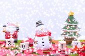 Merry Christmas and happy new year background  and number 2017