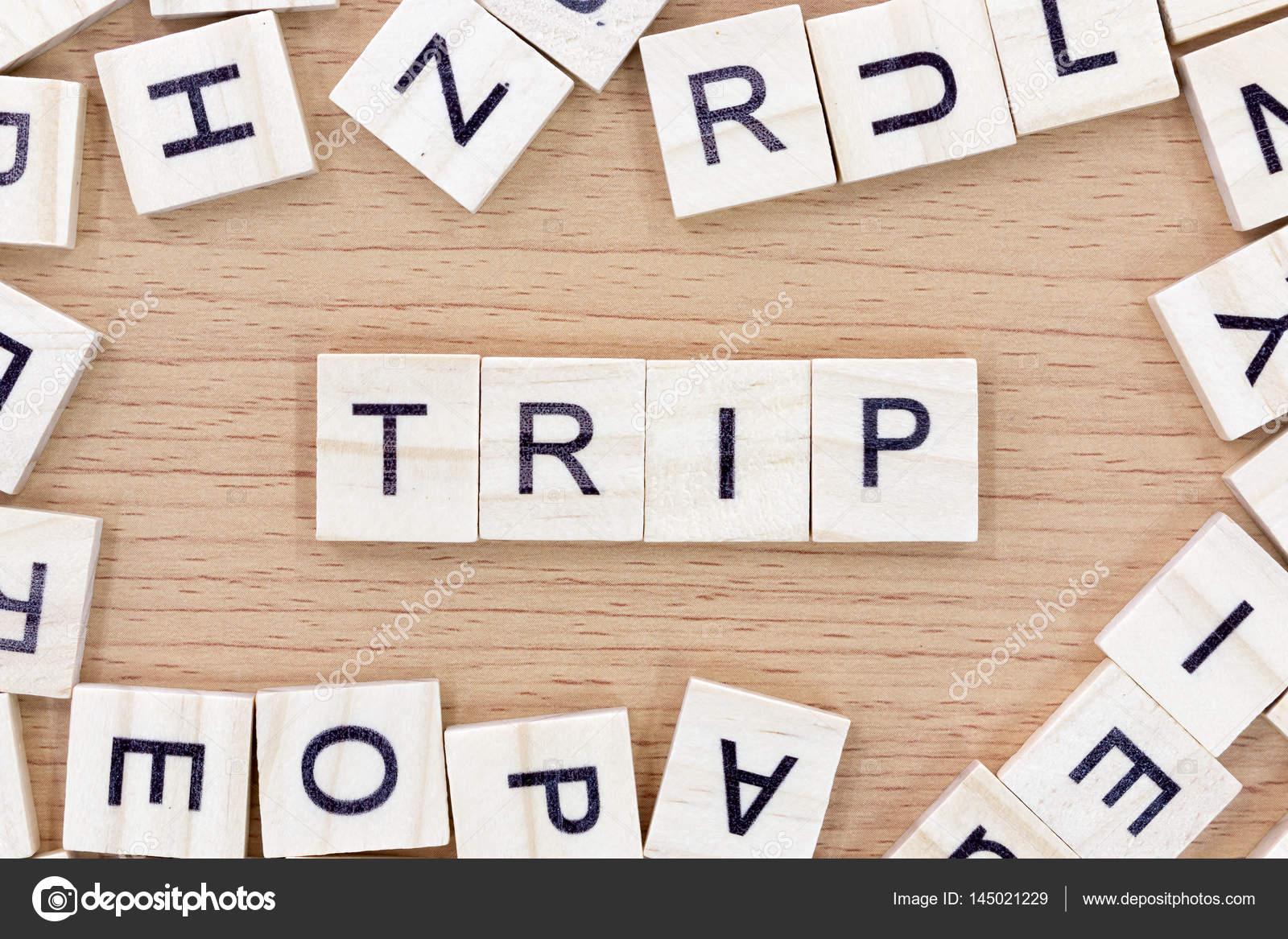 trip words with wooden blocks stock photo sirichaideposit 145021229