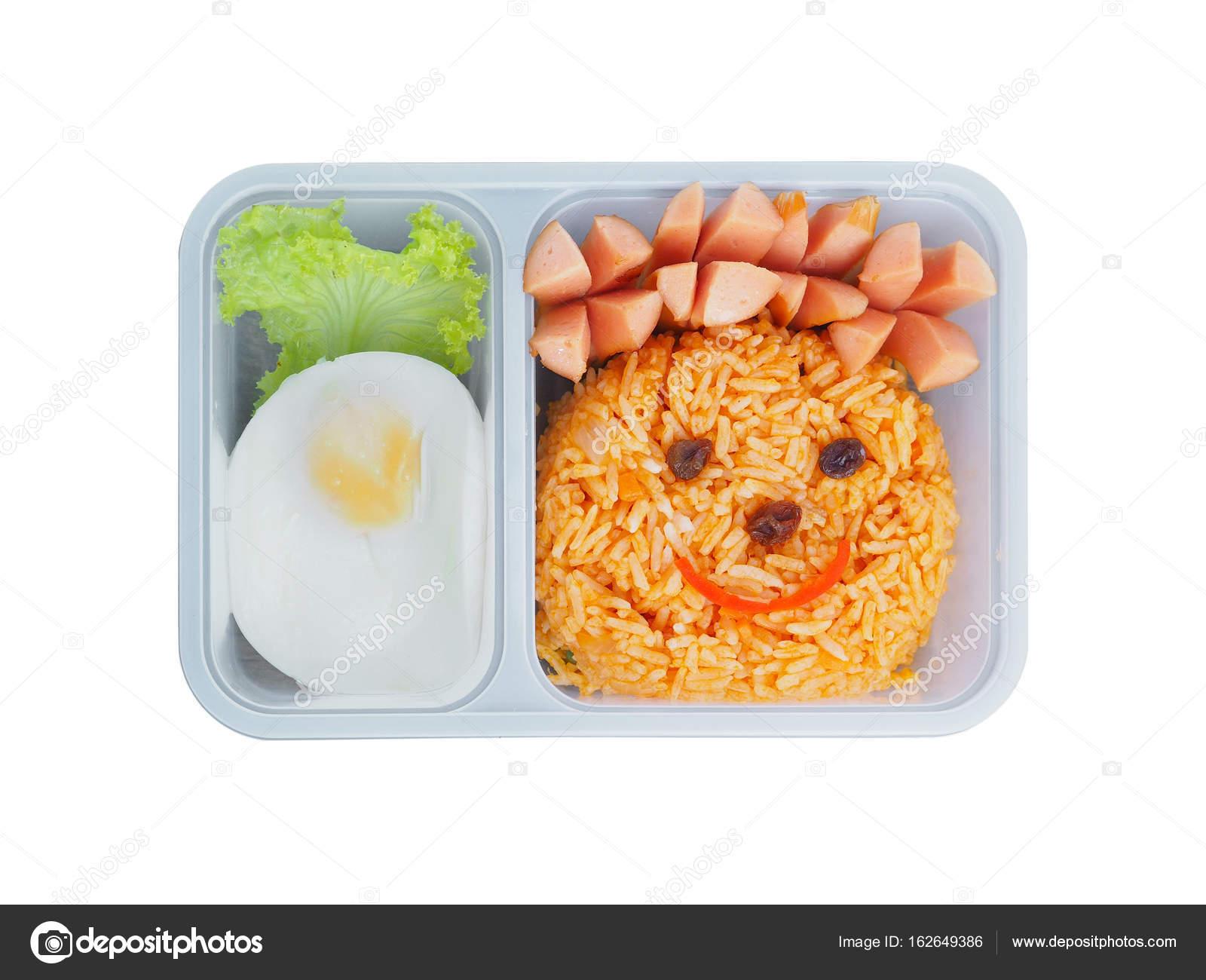 Boîte à Lunch En Plastique De Lécole Pour Les Enfants Avec