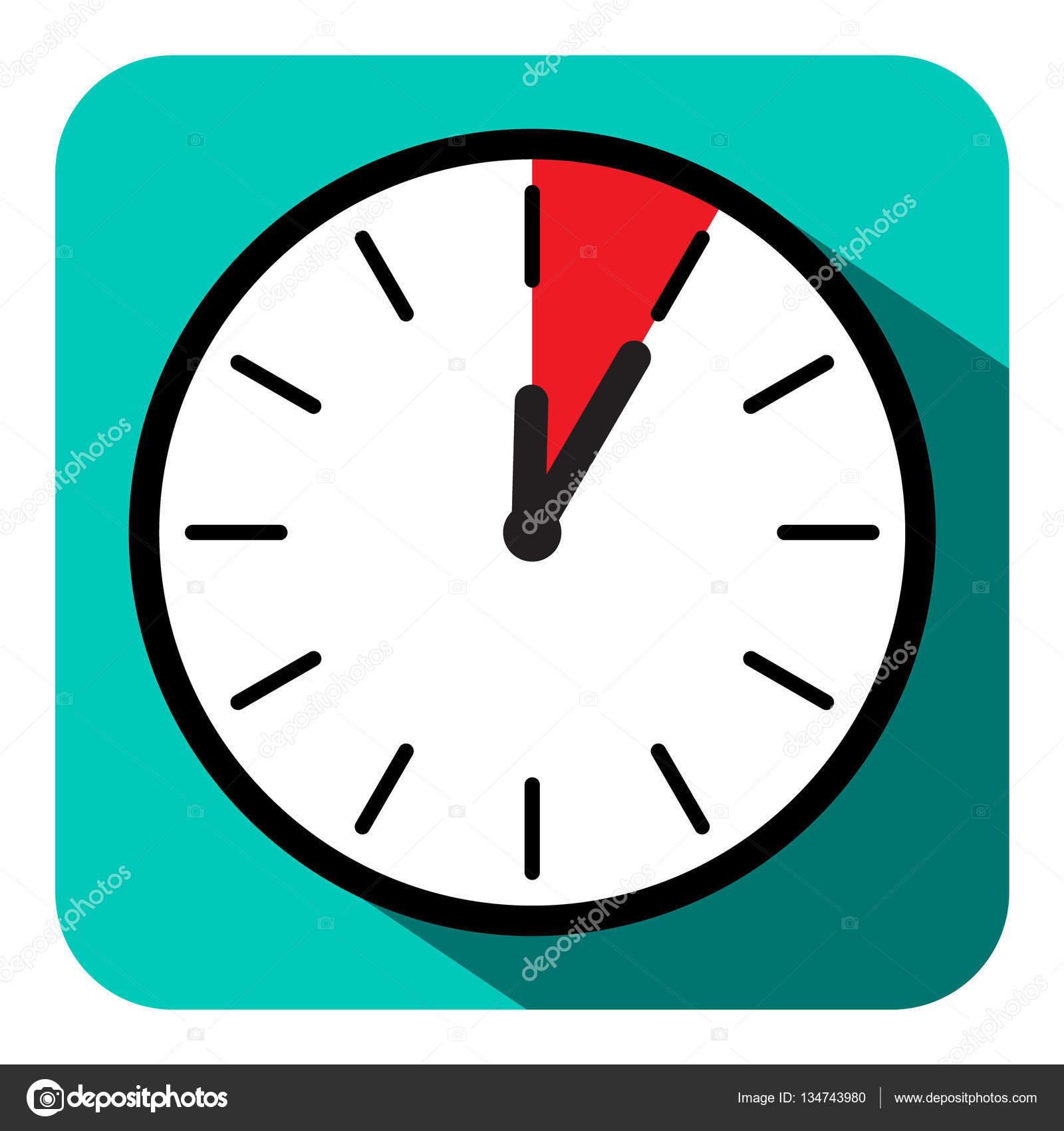 ic ne de l horloge vector retro design plat symbole de cinq minutes image vectorielle mejn. Black Bedroom Furniture Sets. Home Design Ideas