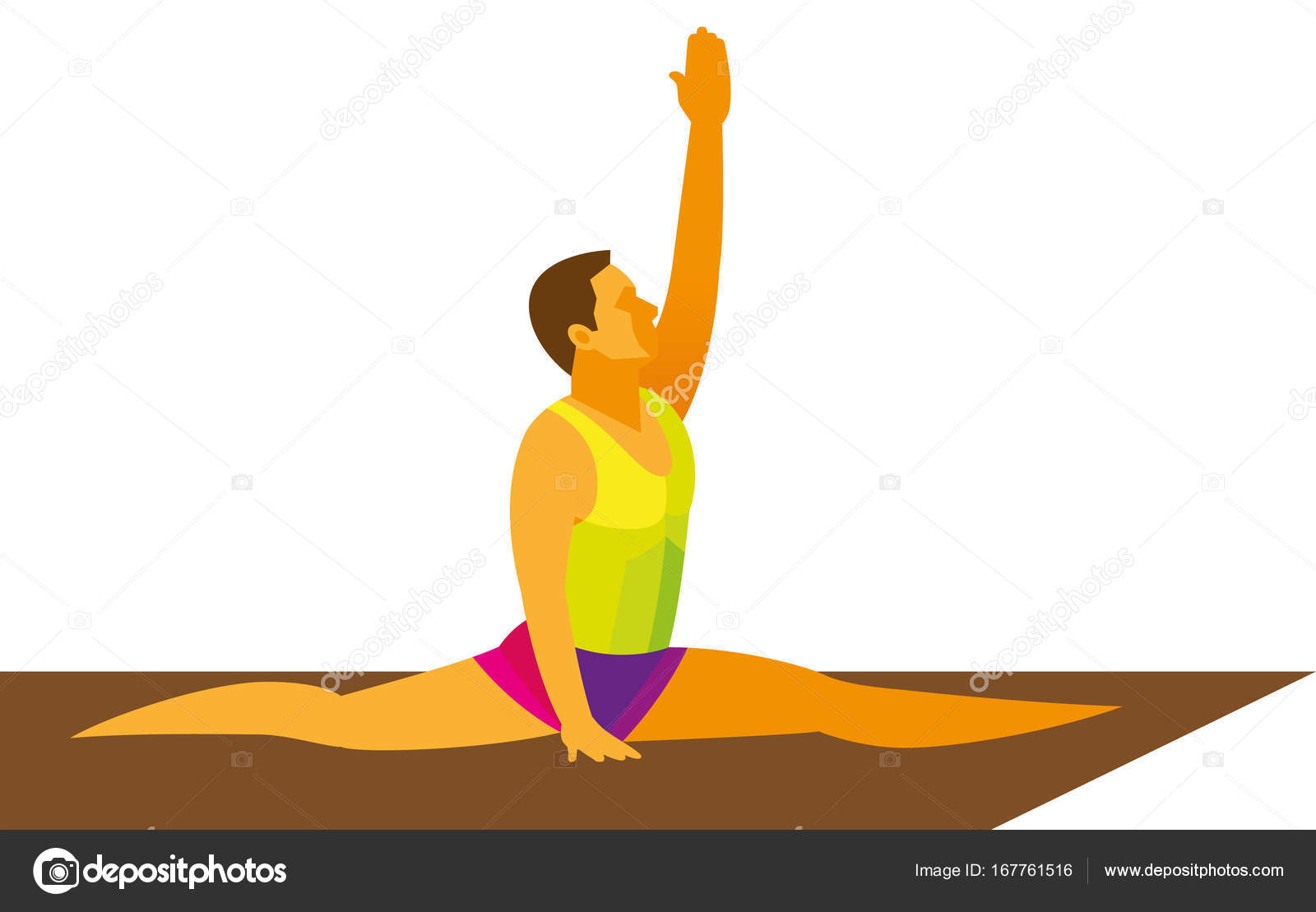Jeune Gymnaste Execute L Exercice Au Sol Sur Le Tapis Image