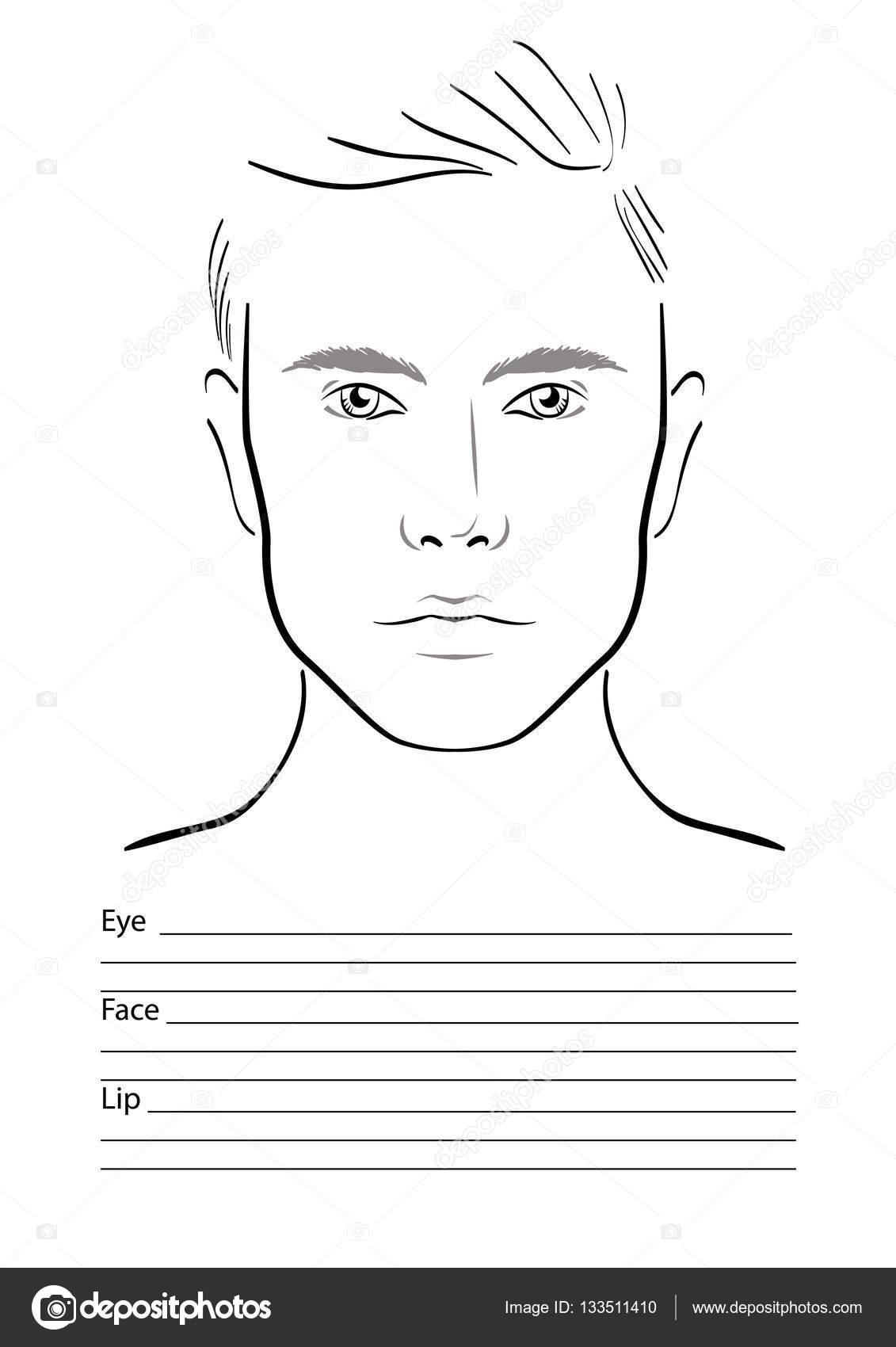 Marvelous Face Diagram Smink Muvesz Ures Sablon Vektoros Illusztracio Wiring Digital Resources Nekoutcompassionincorg