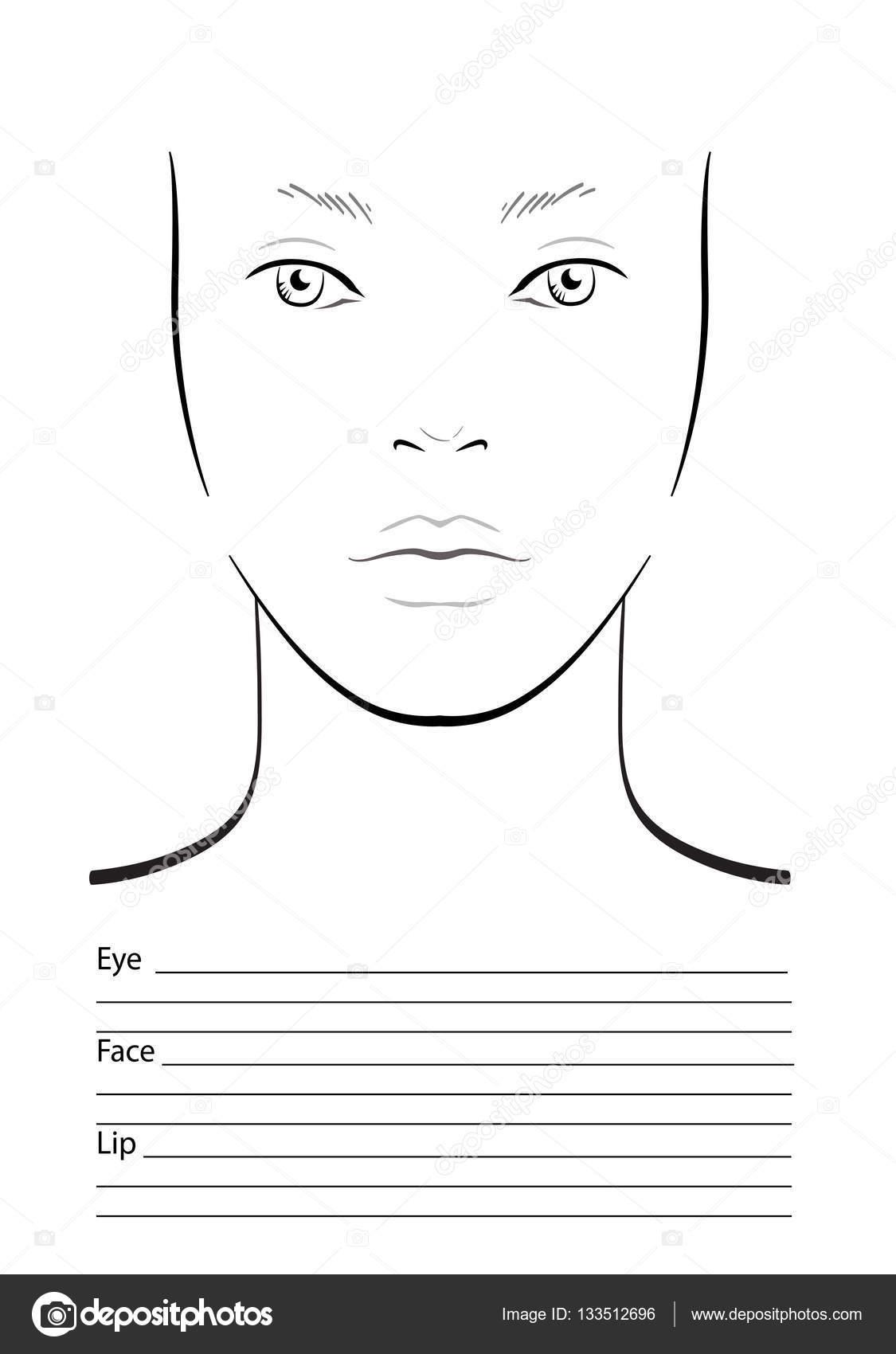 Topmodel Ausmalbilder Gesicht : Nett Blank Gesichts Schablone Druck Bilder Bilder F R Das