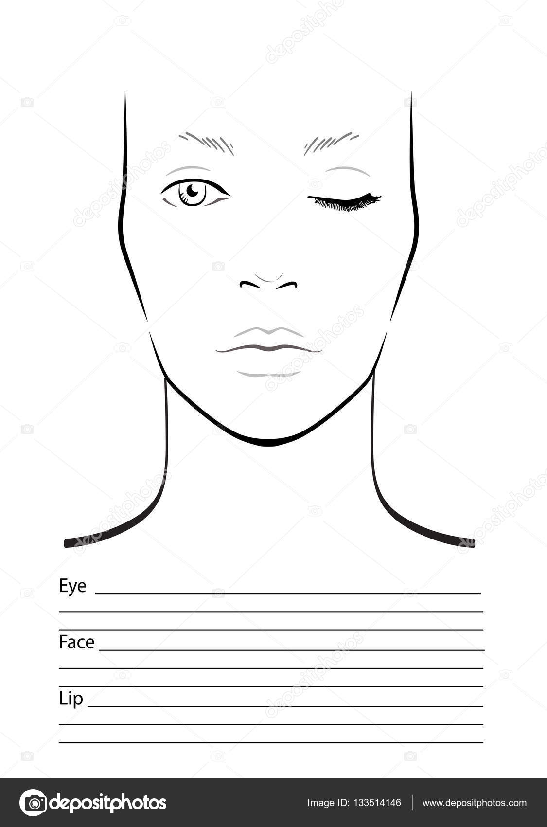 Face diagram smink mvsz res sablon vektoros illusztrci face diagram smink mvsz res sablon vektoros illusztrci stock vector pooptronica Image collections